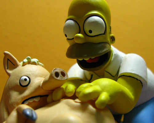 Spiderpig y Homero 1280x1024