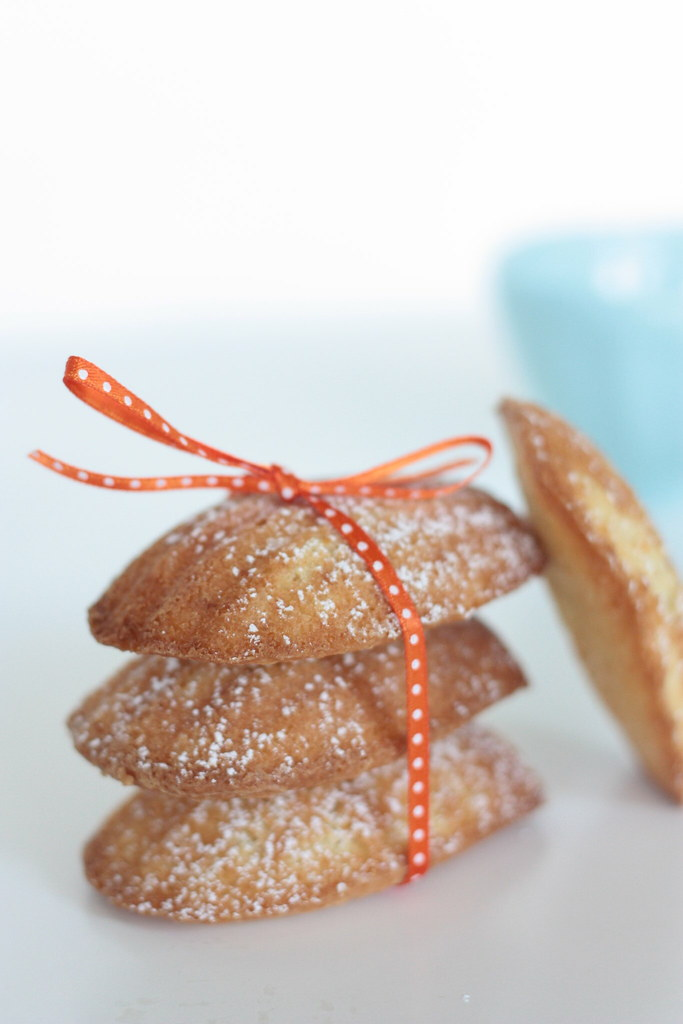 Orange Almond Madelines [ribbon]