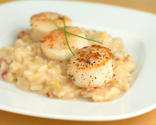 Scallops and Leek Risotto