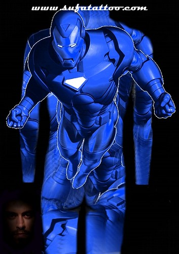 Body Suit Tattoo Flash-Iron Man-Sufá Tattoo by Sufá Tattoo Studio 3484-