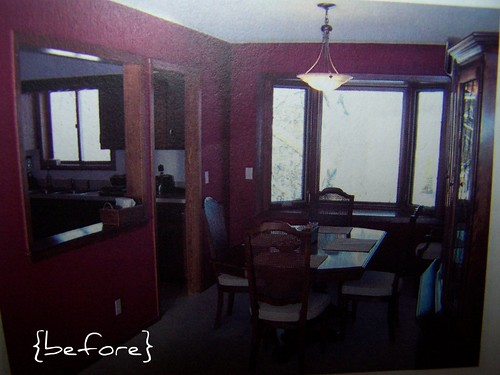 dining room remodel {BEFORE}