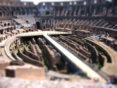 Roman Colosseum / tilt shift (patrick.swinnea) Tags: rome miniature model amphitheatre fake colosseum tiny coliseum tiltshift tiltshiftmakercom