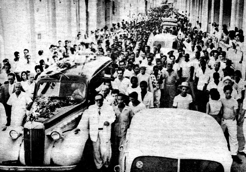 Frank Pais funeral, Santiago Cuba, 1957