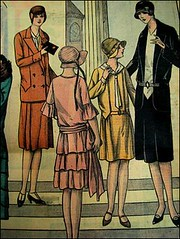 "vintage fashion magazine ""le petit cho de la mode""1929 (april-mo) Tags: fashion vintage magazine de la le mode petit 1929 cho vintageillustration vintagehats the1920s 1929fashion lepetitchodelamode jazzagedresses 1920sfrenchmagazine"