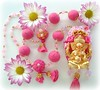 Senhor da Sabedoria (Lidia Luz) Tags: necklace beads ganesha handmade embroidery jewelry felt bijoux bijuteria ganesh fuxico feltro colar bijouteria lidialuz