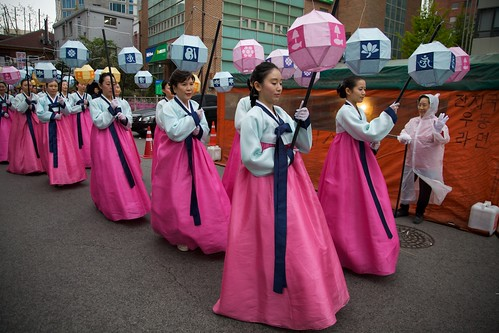 Hanbok and Lanterns
