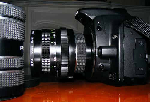 Macro Extension Tubes On 28mm F2.8 Pentacon, On Canon 350d Rebel XT