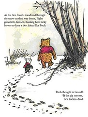 Pooh Bear Swine Flu Cartoon