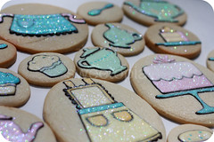 tea party cookies (sweetopia*) Tags: cake cakestand cupcakes milk tea apron teapot muffin teacup teatime teaparty sugarbowl sugarcookies pastelcolors royalicing discodust shimmerdust fancyaspotoftea onesugarortwo
