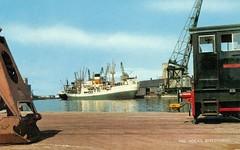 The Docks Birkenhead (reinap) Tags: england docks postcard birkenhead