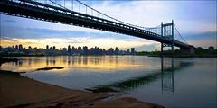 Triborough Sunset (Nick Pauly) Tags: nyc newyorkcity sunset ny newyork skyline manhattan queens eastriver astoria handheld rfk astoriapark triboroughbridge triborough explored rfkbridge