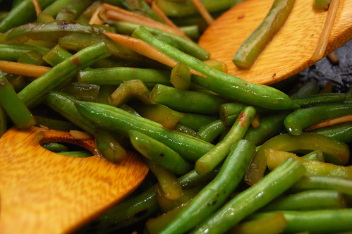 Stir Fried Green Beans with Bell Pepper
