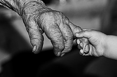 hand in hand -  old@new, past@future! (ChrisK4u) Tags: world grandma bw girl children eva child oma 1001nights blackdiamond twop 1000words generationgap bwart blackwhitephotos classicblackandwhite platinumheartaward artlegacy worldofbw goldstaraward blackandwhitefeelings spiritofphotography