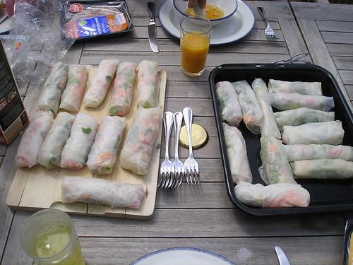 Yummy veggie rolls