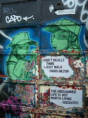paris hilton quote - socrates quote (jerm IX) Tags: parishilton words stencil guessed socrates jerm9 directquotes pointbluejae1 theunexaminedlifeisnotworthliving jermix idontreallythinkijustwalk