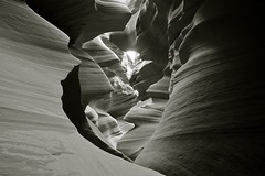 Black and White Image, Lower Antelope Canyon, Near Page Arizona, Navajo Indian Land, USA (Alex E. Proimos) Tags: 1001nights soe blackdiamond abigfave shieldofexcellence anawesomeshot blackwhiteaward flickraward vipveryimportantphotos mostbeautifulpictures proimos alexproimos
