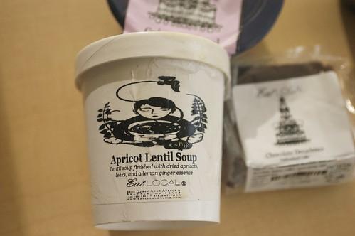 apricot-lentil soup