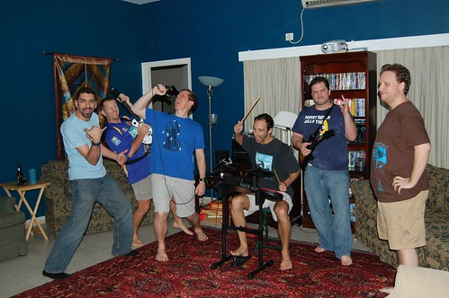 Part 2 of Guyapalooza weekend: Rock Band/Guitar Hero night.