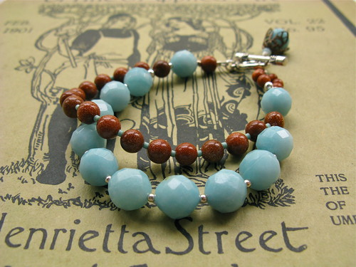 My Lady bracelet in aqua/goldstone