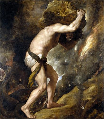 Titian - myth of Sisyphus