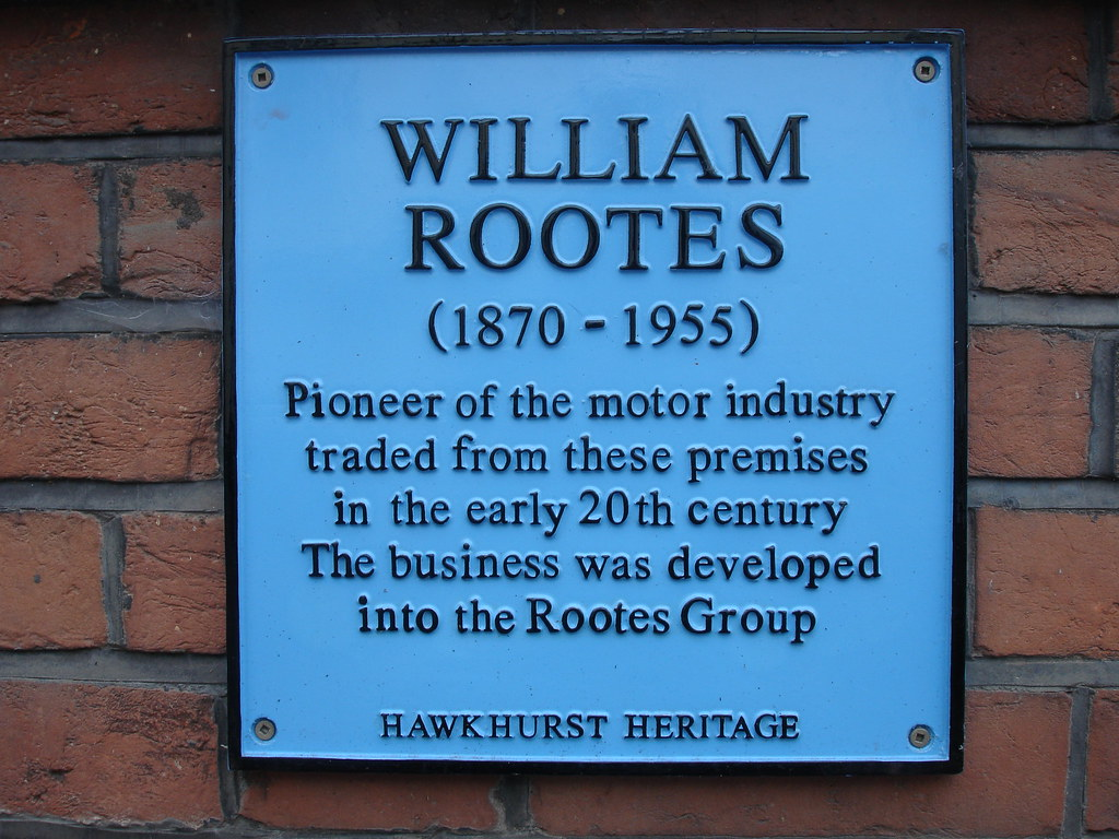 Photo of William Rootes blue plaque