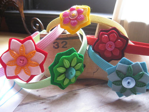 felt and vintage flower headband