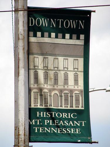 Mt. Pleasant, TN town banner