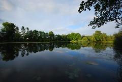 Secret Lake (Dean_Scott) Tags: trees light summer cloud sun lake colour reflection green water fishing woods nikon sigma wideangle 1020 d60 dean1984