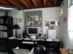 My Studio: June 20, 2009 / Desk Area (steveartist) Tags: artwork paintings workinprogress artists artinprogress artstudio paintingstudio artstudios easelart artenvironments