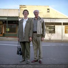 Joy and Doug. (Stu.Brown) Tags: portrait rolleiflex rural nc australia 400 sl66 portra teralba