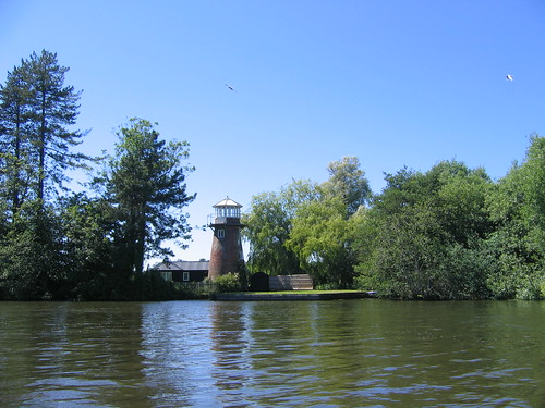 Riverside lighthouse.