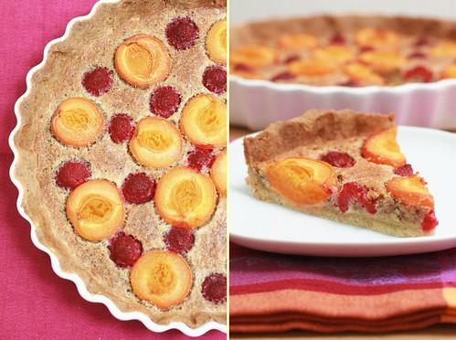 Tarte bourdaloue abricots et framboises