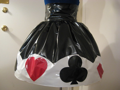 Vinyl Trump Applique Skirt 003
