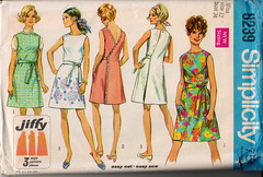 Simplicity 8239 (kusine) Tags: 1969 dress wrap jumper 1960s easy jiffy h36 b34 easycut easysew w255