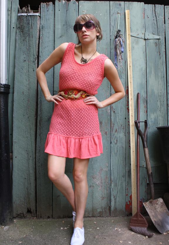 Vintage Crochet Dress, circa 1990s