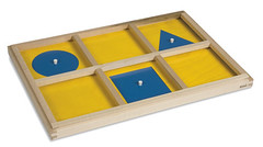 Montessori geometric demonstation tray.