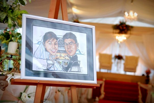 Diana's wedding caricatures @ reception