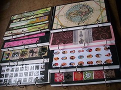 Recycled stuff notebooks (chicalookate) Tags: crafts crafty