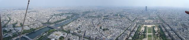 Párizs panoráma az Eiffel-toronyból