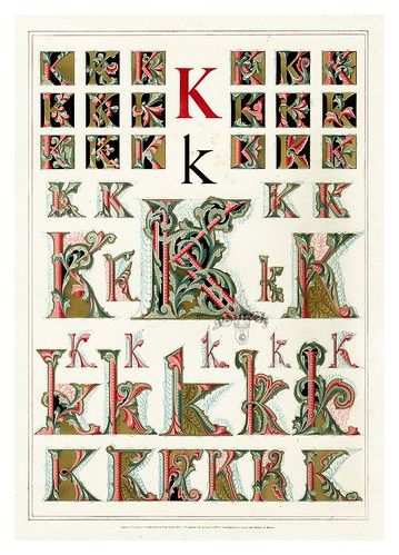 006-Letra K-Owen Jones Alphabet 1864- Copyright © 2010 Panteek.  All Rights Reserved