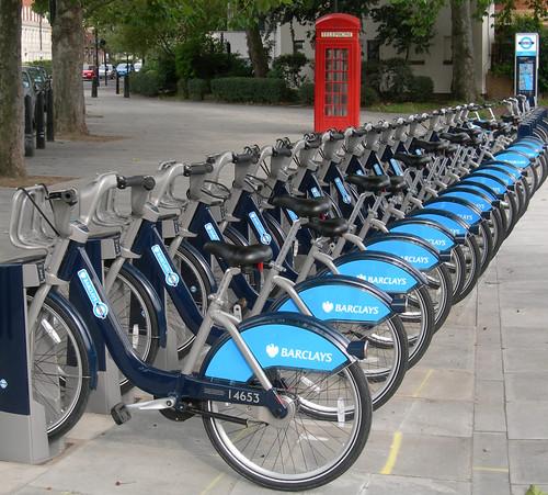 Puesto de Barclays Bikes