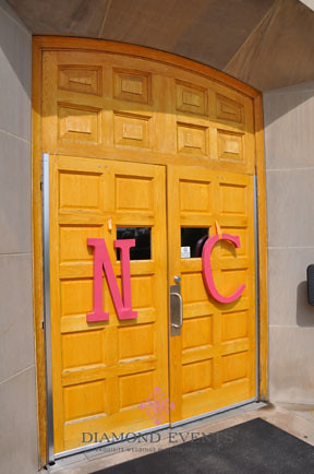 Chapel doors at Virginia Tech War Memorial Chapel in Blacksburg Virginia