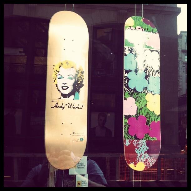 Warhol deck #walkingtoworktoday