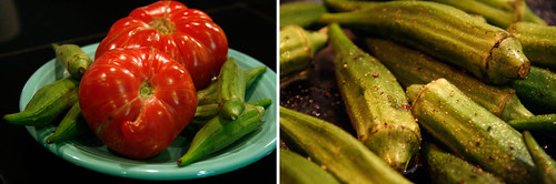 photo 6- okra salad ingred