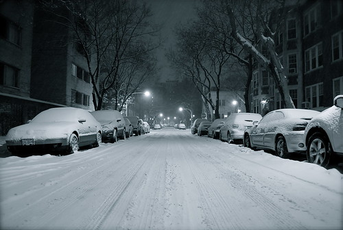 Pine Grove Ave in Winter