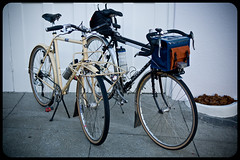 Two Kogswell P/Rs, One P, One R (Adam A.) Tags: family portrait bike bicycle bag handmade g1 g2 handlebar custom kogswell randonneur porteur jimg 700c 650b zugster