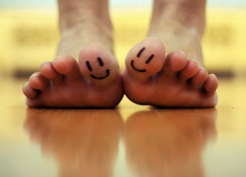 You make my toes smile =D / Little Thoughts