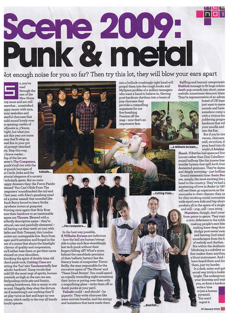 In The NME 10/01/09 (Tip For 2009 Feature)