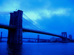 Brooklyn blues (Rich007) Tags: nyc newyorkcity bridge blue usa ny newyork water architecture brooklyn night america river unitedstates dusk manhattan unitedstatesofamerica bridges brooklynbridge manhattanbridge eastriver newyorkstate suspensionbridge thebigapple obliquemind obliquamente enlightedbridge