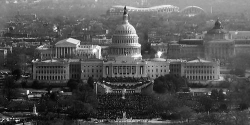BW view in Washington DC Jan 20, 2009
